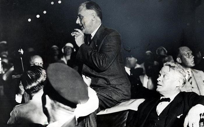 FDR speaking in Bayfront Park in 1933