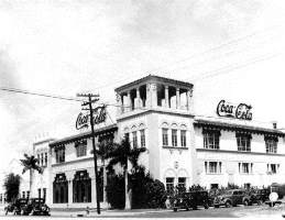 Coca-Cola bottling plant in Wynwood Miami