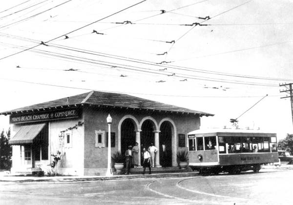 Miami Trolley Stop in 1921