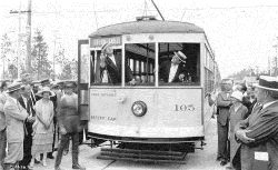 Coral Gables Trolley Line in 1925