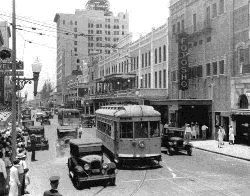 Trolley in downtown Miami in 1927