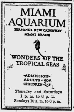 Miaimi Aquarium Ad.