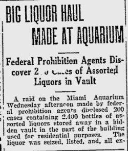 Liquor raid at The Aquarium