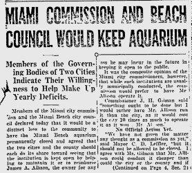 Miami Commission Council would keep Aquarium