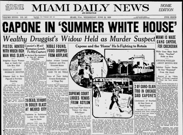 Miami News Headline featuring Al Capone