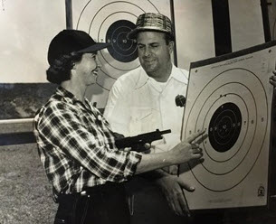 Sonny Capone at Shooting Range in 1956