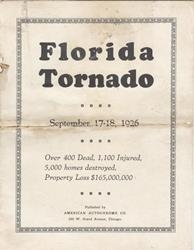 1926 Hurricane Booklet