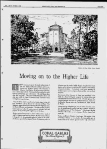 University of Miami Opens in 1926