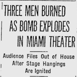 Article on Bomb Exploding in 1932