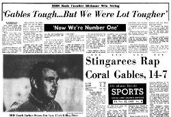 Miami Herald Headline in 1965