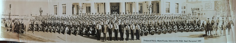 Miami Police Department in 1950 Panoramic