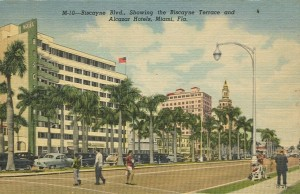 Postcard of Biscayne Terrace Hotel in 1950s
