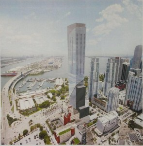 Rendering of World Trade Center at 340 Biscayne Blvd