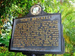 Fort Brickell Historic Marker