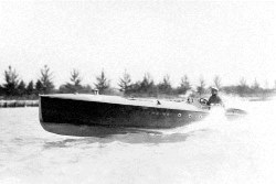 Carl Fisher on his boat in 1920s