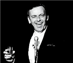 Sinatra performing at FountainBleau in 1950s