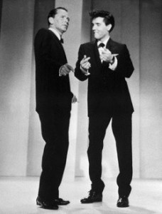 Sinatra performs with Elvis in 1960
