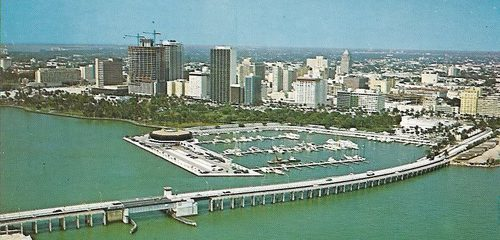 Miami Downtown Skyline in 1971