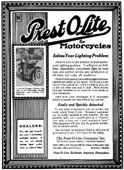 Presto-O-Lite Advertisement