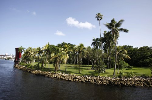 Sewell Park from the Miami River