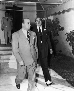 Capone leaving St. Patrick Church in 1941