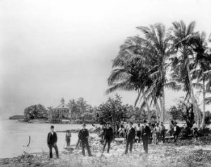 Miami Pioneers during the Groundbreaking in 1896