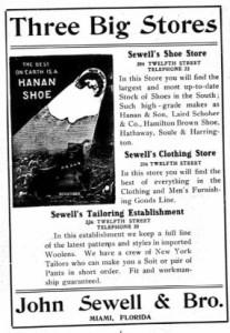 Ad in 1907 Miami City Directory