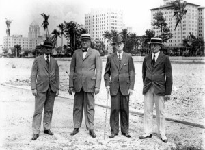 E.G. Sewell (right) in 1931 after demolition of Royal Palm