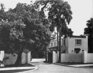 Villa Regina main entrance in 1919