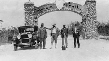 Opening of Tamiami Trail on April 26, 1928.