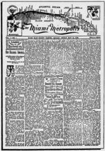 First Issue of Miami Metropolis