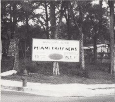 Lot for Miami News Tower in June of 1924