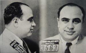 Al Capone mug shot in 1930