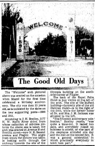 Good Old Days Article in 1939