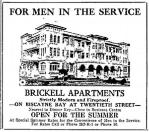 Ad for Service Men in 1918