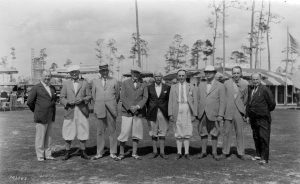William Urmey in Coral Gables in 1920. He is third from the left.