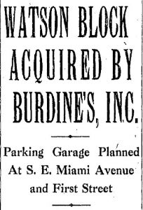 Headline in Miami Herald in 1930.