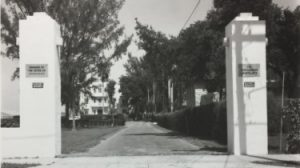 Front entrance to Castlereagh Apartments in 1951.