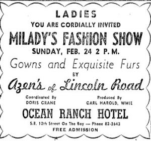 Ocean Ranch Hotel ad in 1952