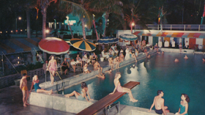 Ocean Ranch Hotel pool in 1960s
