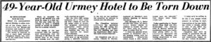 Headline in Miami Herald in 1965