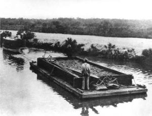 Construction of Collins Bridge in 1913