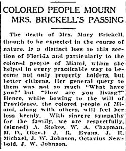 Miami Herald Article on January 14, 1922