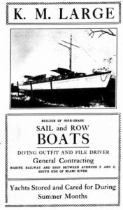 KM Large Boat Yard Ad in 1915.