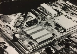 Aerial of Miami Shipbuilding Corp property in 1942.