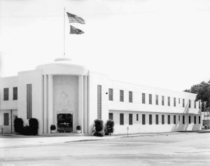 Art Moderne Building in 1942.