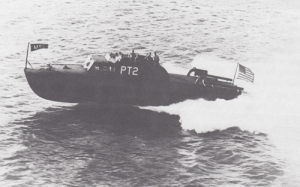 PT-2 sea trial near Miami Beach in 1942.