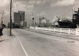 SW Second Ave Bridge looking north in 2000.