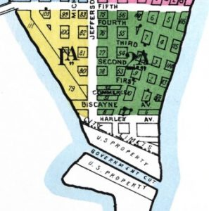 Sanborn Map in 1921 of Harley Street on Miami Beach.