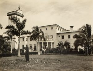 August Geiger designed Fisher home, The Shadows, on Miami Beach.